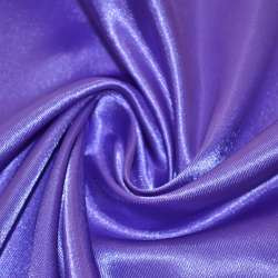 Атлас фиолетово-молочный ш.150