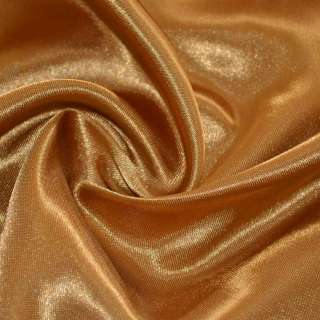 Атлас коричневый светлый с золотым отливом ш.150 оптом
