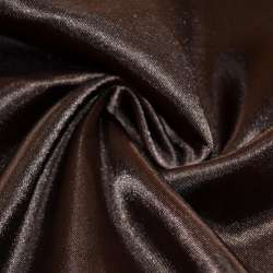 Атлас коричневый темный ш.150