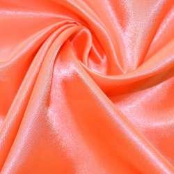 Атлас розово-оранжевый ш.150