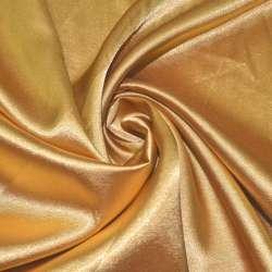 Атлас стрейч золотистый ш.150