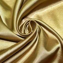 Атлас стрейч бежево-золотистый ш.150