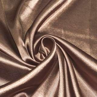 Атлас стрейч светло-коричневый ш.150 оптом