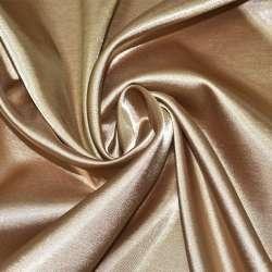 Атлас стрейч бежево-коричневый ш.150