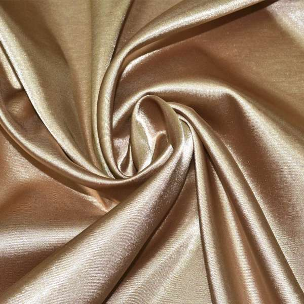 Атлас стрейч бежево-коричневый ш.150 оптом