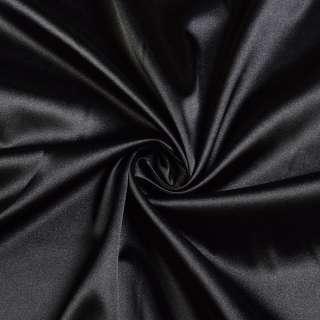 Стрейч атлас черный ш.150 оптом