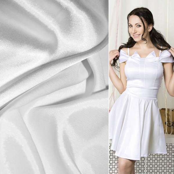 Атлас стрейч хамелеон белый ш.150 оптом