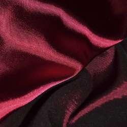Атлас стрейч хамелеон темно-вишневый ш.150 оптом