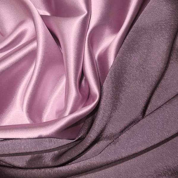 Атлас стрейч хамелеон розово-серый ш.150 оптом