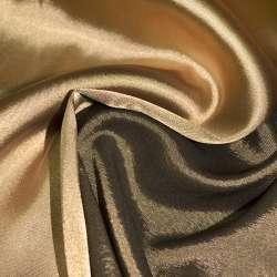 Атлас стрейч хамелеон бежево-болотный ш.150 оптом