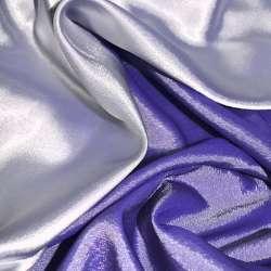 Атлас стрейч хамелеон серебристо-синий ш.150 оптом