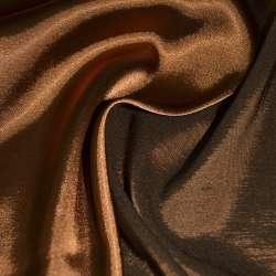 Атлас стрейч хамелеон коричнево-рыжий ш.150