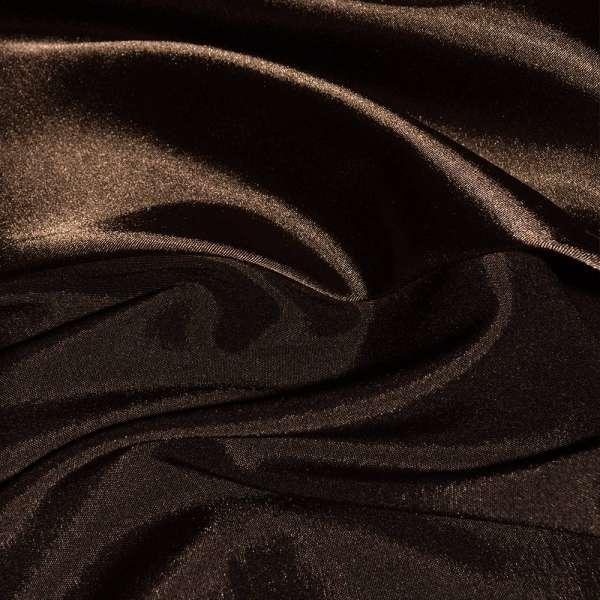Атлас стрейч хамелеон темно-коричневый ш.150 оптом