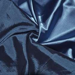 Атлас стрейч хамелеон голубой ш.150