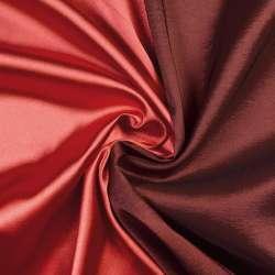 Атлас стрейч хамелеон красный с черным ш.150 оптом