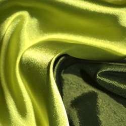 Атлас стрейч хамелеон салатово-зеленый ш.150 оптом