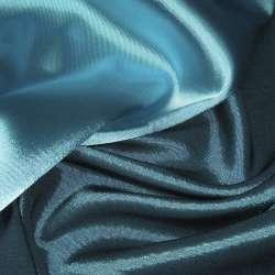 Атлас стрейч хамелеон голубой с черным отливом ш.150 оптом