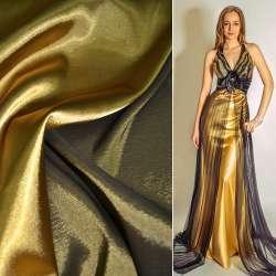 Атлас стрейч хамелеон темное золото-ш.150 оптом