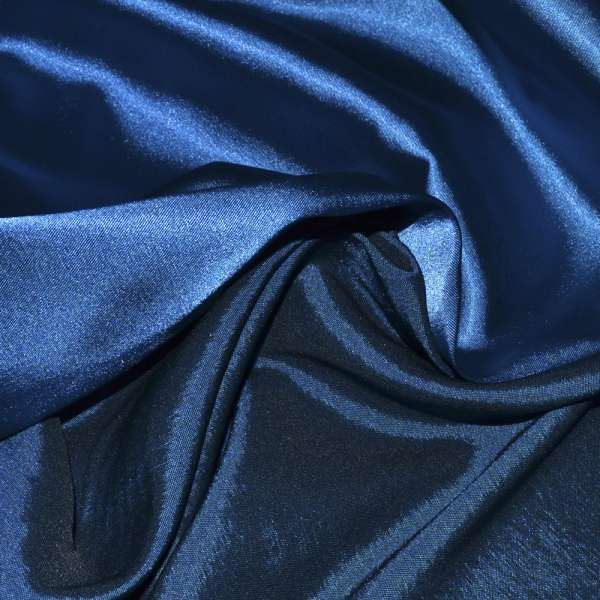 Атлас стрейч хамелеон синий электрик ш.150 оптом