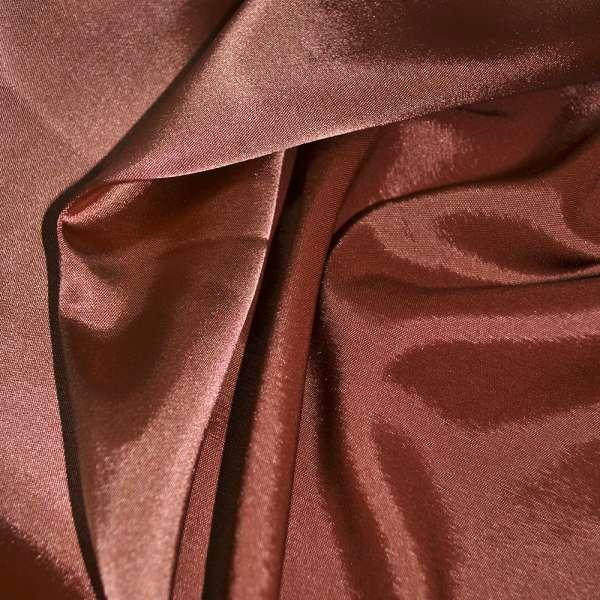 Атлас стрейч хамелеон терракотово-розовый ш.150 оптом