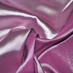 Атлас стрейч хамелеон розово-сиреневый ш.150 оптом