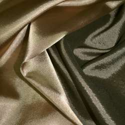 Атлас стрейч хамелеон коричнево-золотистый ш.150 оптом