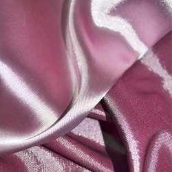 Атлас стрейч хамелеон сиренево-розовый ш.150