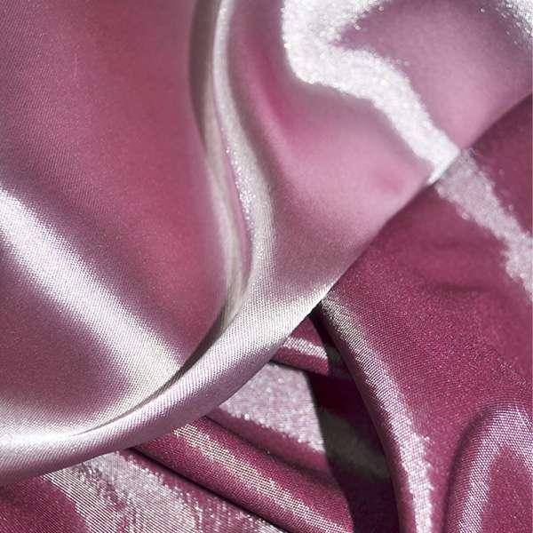 Атлас стрейч хамелеон сиренево-розовый ш.150 оптом