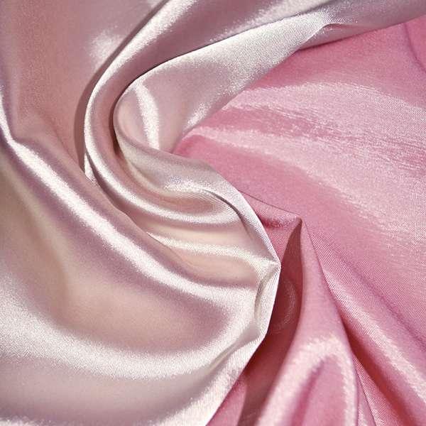 Атлас стрейч хамелеон молочно-розовый ш.150 оптом
