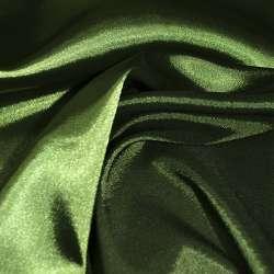 Атлас стрейч хамелеон зеленый темный ш.150 оптом