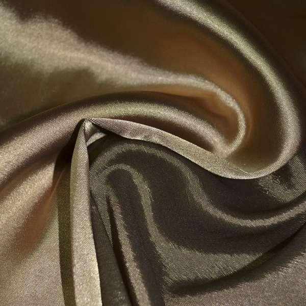 Атлас стрейч хамелеон золотисто-коричневый ш.150 оптом