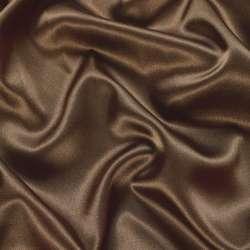 Атлас стрейч шамус коричневый с перламутром ш.150 оптом