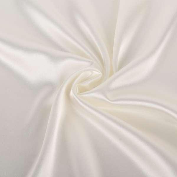 Атлас стрейч шамус белый с лимонным оттенком ш.150 оптом