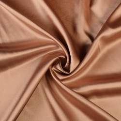 Атлас стрейч шамус коричнево-розовый перламутр ш.150 оптом