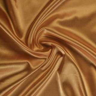 Атлас стрейч шамус коричнево-золотистый ш.150 оптом
