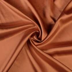 Атлас стрейч шамус коричнево-рыжий ш.150 оптом