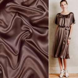 Атлас стрейч шамус шоколадный ш.150 оптом