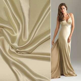 Атлас стрейч шамус золотистий з білим відтінком ш.150 оптом