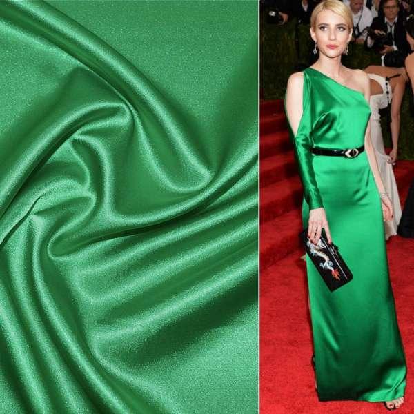 Атлас стрейч шамус зеленый (трава) ш.150 оптом