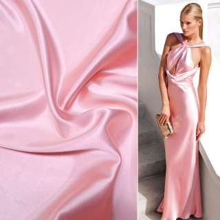 Атлас стрейч шамус розово-перламутровый ш.150 оптом