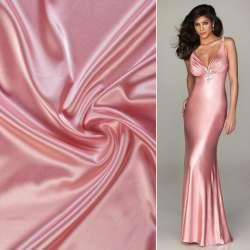 Атлас стрейч шамус розовый светлый ш.150 оптом