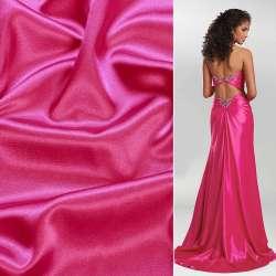 Атлас стрейч шамус малиново-розовый ш.150 оптом