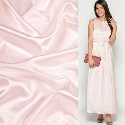 Атлас стрейч шамус молочно-розовый ш.150