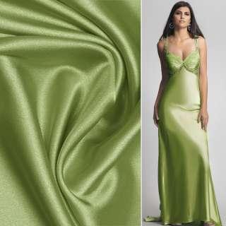 Стрейч атлас шамус салатово зеленый ш.150 оптом