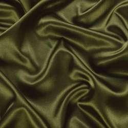 Атлас стрейч шамус оливковый темный ш.150 оптом