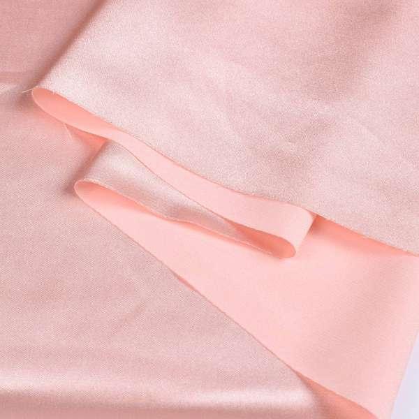 Атлас стрейч шамус розово-персиковый ш.150 оптом