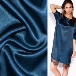 Атлас стрейч шамус сине-серый ш.150 оптом