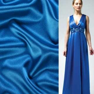 Атлас стрейч шамус синий светлый ш.150 оптом