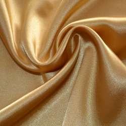 Атлас стрейч шамус темно-золотистый пл.130 г/м ш.150