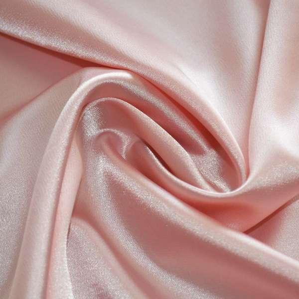 Атлас стрейч шамус бледно-розовый пл. 130 г/м ш.150 оптом